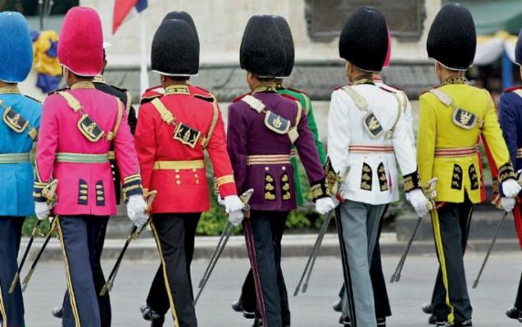 Military multi-colour uniforms