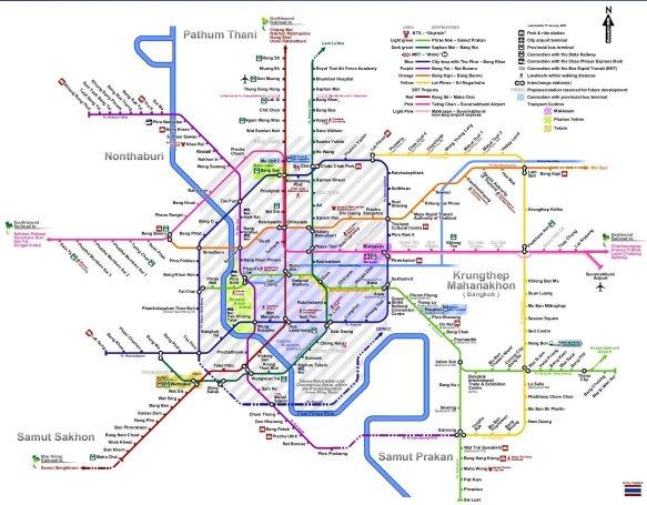 Getting around in Thailand - Bangkok-Rail-Transit-Network