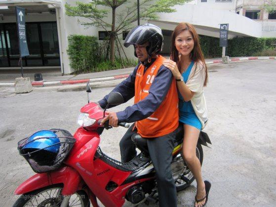 Motor bike taxi Bangkok