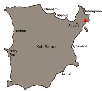 Samujana Villa 30 location map