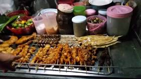 Chicken skewers street food Fisherman's Village Koh Samui