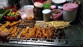 Chicken skewers street food Fisherman's Village Koh Samui