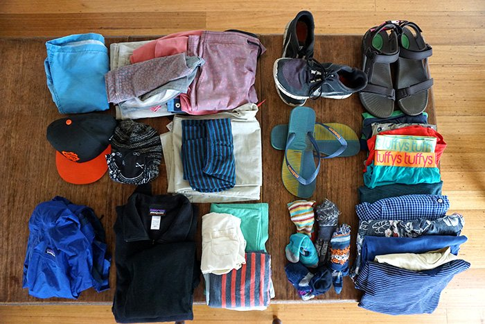 Essential clothing -Male - for traveling in Thailand