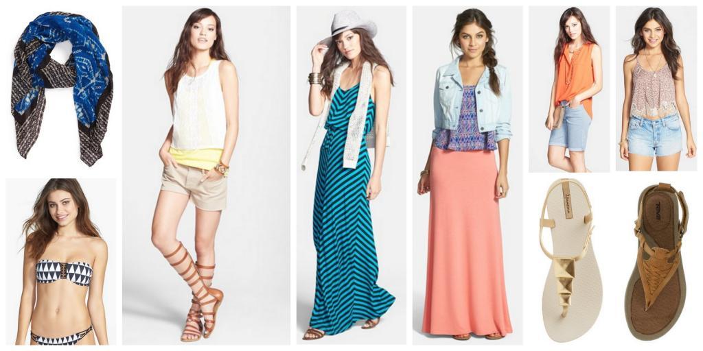 Beach getaway clothing
