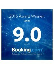 Lanna Booking.com Award Winner 2015
