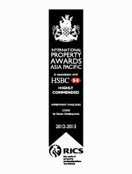 Asian Pacific Property Awards 2012 Best Apartment Thailand CODE – Highly Commended
