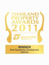 Thailand Property Awards 2011 Best Residential Development Koh Samui CODE – Winner