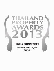 Thailand Property Awards 2013 Best Residential Agent Koh Samui KALARA – Highly Commended
