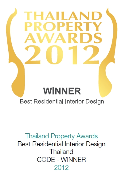 2012 Thailand Property Awards: Best Interior Design Thailand CODE