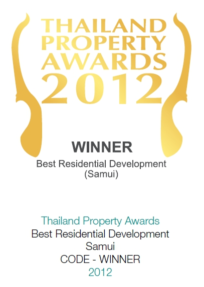 2012 Thailand Property Awards: Best Residential Development Koh Samui CODE