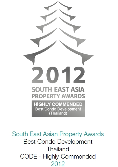 2012 South East Asian Property Awards: Best Condominium Development Thailand CODE