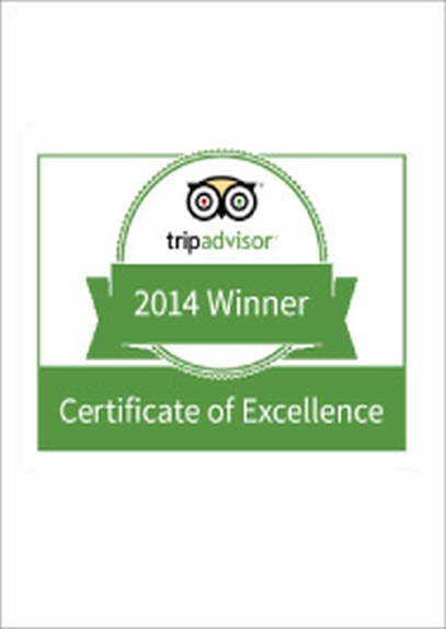 Tripadvisor Certificate of Excellence Award 2014 CODE