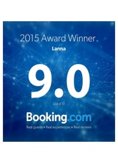 Booking Dot Com Guests Review Awards 9/10 2015 LANNA