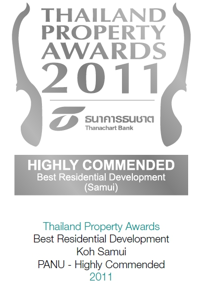 2011 Thailand Property Awards: Best Residential Development Koh Samui PANU