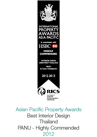 2012 International Property Awards Asia Pacific: Best Interior Design Thailand PANU