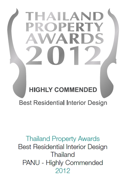 2012 Thailand Property Awards: Best Residential Interior Design Thailand PANU