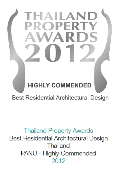 2012 Thailand Property Awards: Best Residential Architectural Design PANU